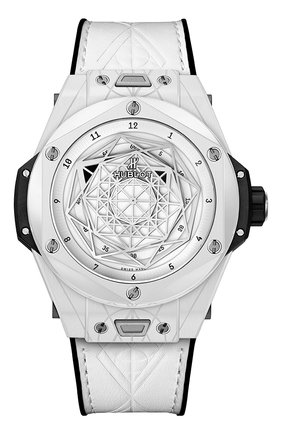 Мужские часы big bang nico sang bleu ceramic white HUBLOT белого цвета, арт. 415.HX.2027.VR.MXM19 | Фото 1
