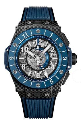 Мужские часы big bang unico gmt carbon blue ceramic HUBLOT серого цвета, арт. 471.QL.7127.RX | Фото 1