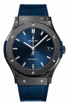 Мужские часы classic fusion ceramic blue HUBLOT синего цвета, арт. 511.CM.7170.LR | Фото 1