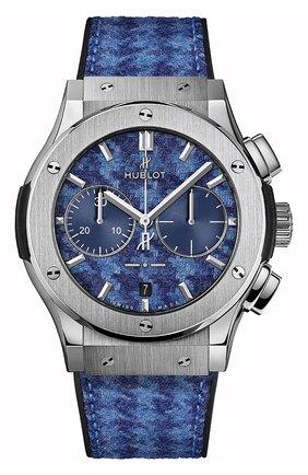Мужские часы classic fusion chronograph italia independent pieds-de-poule titanium HUBLOT синего цвета, арт. 521.NX.2710.NR.ITI18 | Фото 1