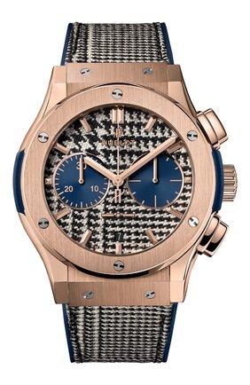 Мужские часы classic fusion italia independent pieds-de-poule king gold HUBLOT черно-белого цвета, арт. 521.OX.2704.NR.ITI17 | Фото 1