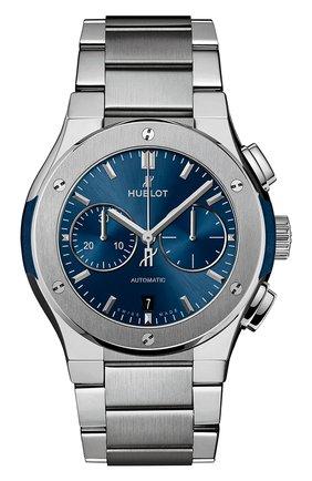 Мужские часы classic fusion titanium bracelet blue HUBLOT синего цвета, арт. 540.NX.7170.NX | Фото 1