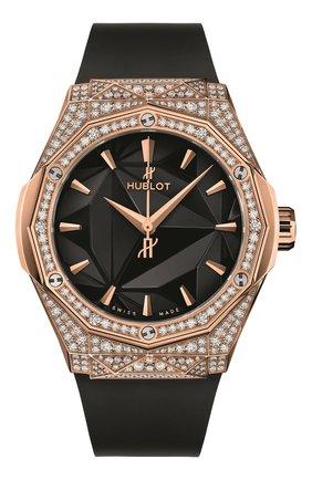 Женские часы classic fusion orlinski king gold pavé HUBLOT черного цвета, арт. 550.OS.1800.RX.1604.ORL19 | Фото 1