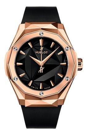 Мужские часы classic fusion classic fusion orlinski king gold HUBLOT черного цвета, арт. 550.OS.1800.RX.ORL19 | Фото 1