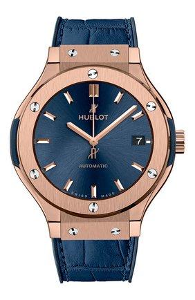 Женские часы classic fusion blue king gold HUBLOT синего цвета, арт. 565.OX.7180.LR | Фото 1
