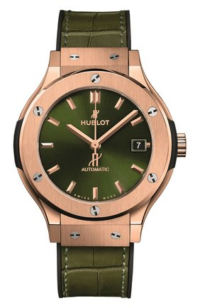 Женские часы classic fusion green king gold HUBLOT зеленого цвета, арт. 565.OX.8980.LR | Фото 1