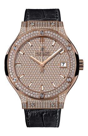 Женские часы classic fusion king gold full pave HUBLOT золотого цвета, арт. 565.OX.9010.LR.1704 | Фото 1