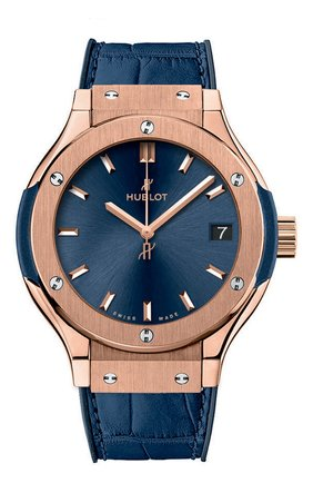 Женские часы classic fusion blue king gold HUBLOT синего цвета, арт. 581.OX.7180.LR | Фото 1