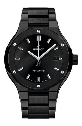Женские часы classic fusion ceramic black bracelet HUBLOT черного цвета, арт. 585.CM.1470.CM | Фото 1