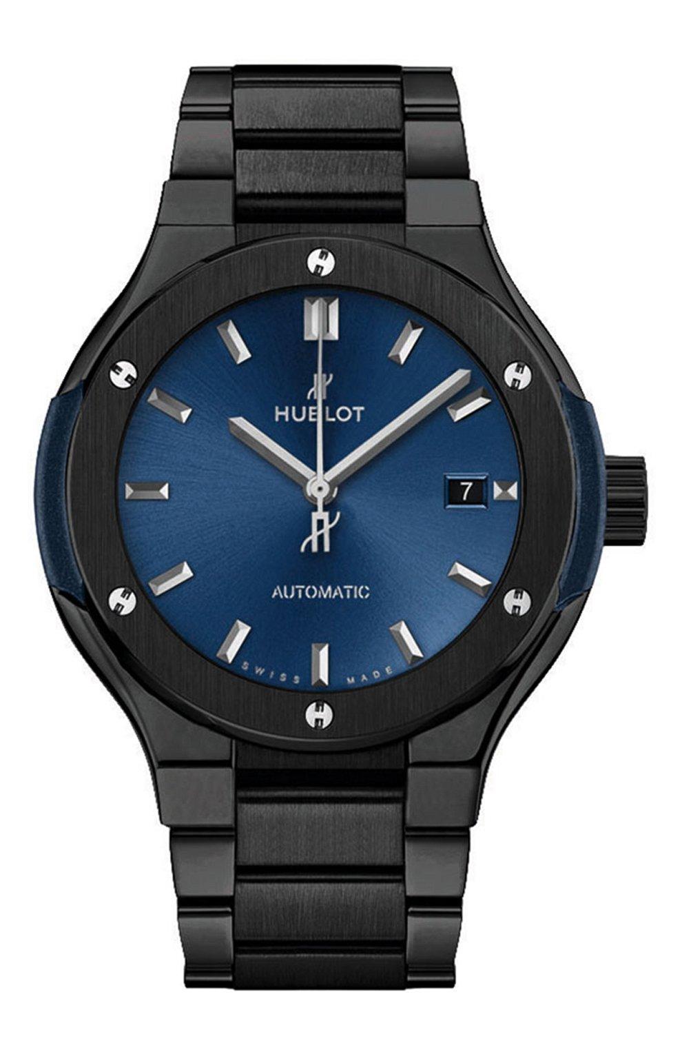 Женские часы classic fusion ceramic blue bracelet HUBLOT синего цвета, арт. 585.CM.7170.CM | Фото 1
