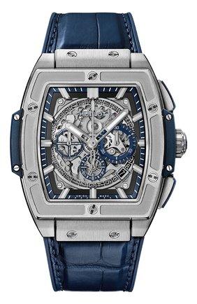 Мужские часы spirit of big bang titanium blue HUBLOT серого цвета, арт. 601.NX.7170.LR | Фото 1