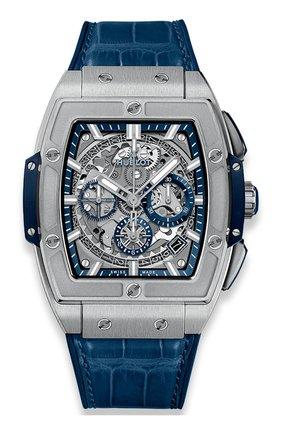 Мужские часы spirit of big bang titanium blue HUBLOT серого цвета, арт. 641.NX.7170.LR | Фото 1