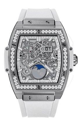 Женские часы spirit of big bang titanium moonphase HUBLOT серебряного цвета, арт. 647.NE.2070.RW.1204 | Фото 1