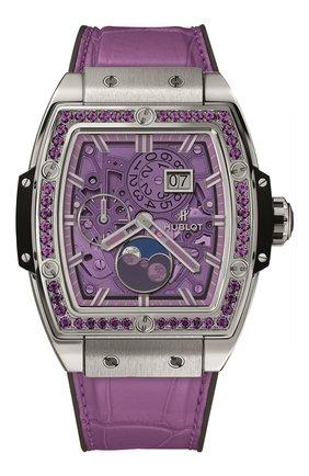 Женские часы spirit of big bang moonphase titanium purple HUBLOT фиолетового цвета, арт. 647.NX.4771.LR.1205 | Фото 1