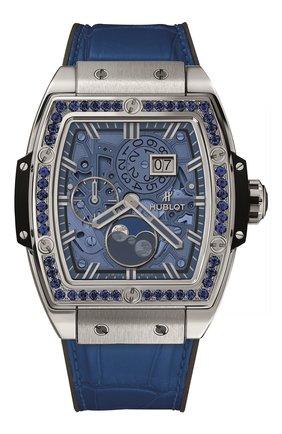Женские часы spirit of big bang moonphase titanium dark blue HUBLOT синего цвета, арт. 647.NX.5171.LR.1201   Фото 1