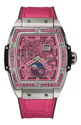 Женские часы spirit of big bang moonphase titanium pink HUBLOT розового цвета, арт. 647.NX.7371.LR.1233 | Фото 1