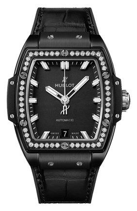 Женские часы spirit of big bang black magic diamonds HUBLOT черного цвета, арт. 665.CX.1170.LR.1204 | Фото 1