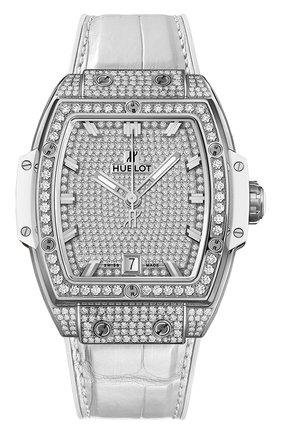 Женские часы spirit of big bang titanium white full pavé HUBLOT серебряного цвета, арт. 665.NE.9010.LR.1604 | Фото 1