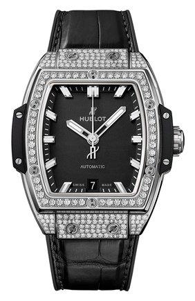 Женские часы big bang titanium pave HUBLOT бесцветного цвета, арт. 665.NX.1170.LR.1604 | Фото 1