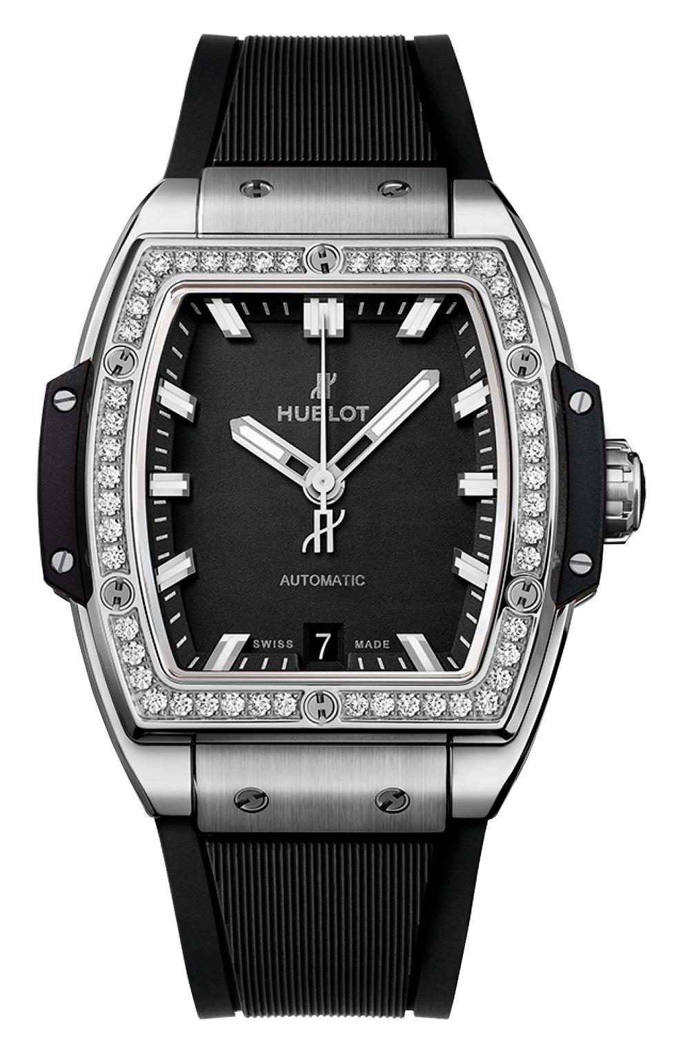 Женские часы big bang titanium diamonds HUBLOT черного цвета, арт. 665.NX.1170.RX.1204 | Фото 1