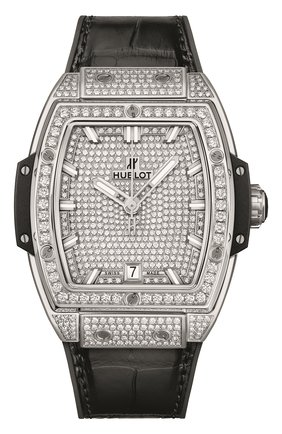 Женские часы spirit of big bang titanium full pavé HUBLOT серебряного цвета, арт. 665.NX.9010.LR.1604   Фото 1
