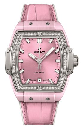 Женские часы spirit of big bang pink ceramic titanium diamonds HUBLOT розового цвета, арт. 665.RN.891P.LR.1204 | Фото 1