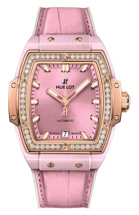 Женские часы spirit of big bang pink ceramic king gold diamonds HUBLOT розового цвета, арт. 665.RO.891P.LR.1204 | Фото 1