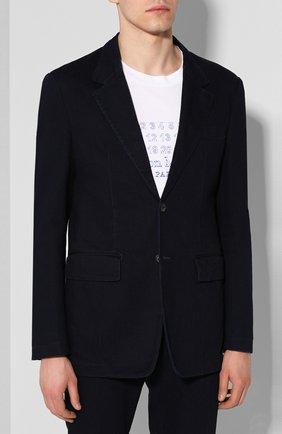 Мужской хлопковый костюм MAISON MARGIELA темно-синего цвета, арт. S30FT0121/S30682   Фото 2