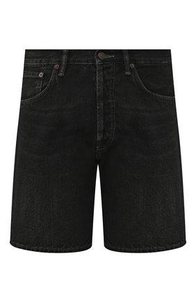 Мужские джинсовые шорты ACNE STUDIOS черного цвета, арт. BE0032 | Фото 1