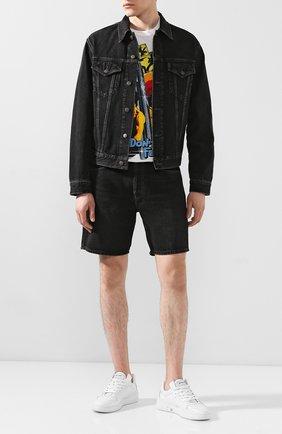 Мужские джинсовые шорты ACNE STUDIOS черного цвета, арт. BE0032 | Фото 2