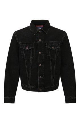 Мужская джинсовая куртка ACNE STUDIOS черного цвета, арт. B90286/M | Фото 1