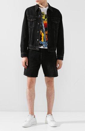 Мужская джинсовая куртка ACNE STUDIOS черного цвета, арт. B90286/M | Фото 2