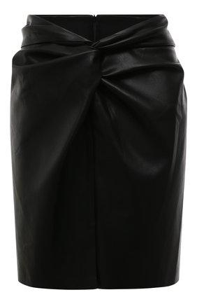 Женская юбка NANUSHKA черного цвета, арт. MIL0_BLACK_VEGAN LEATHER   Фото 1