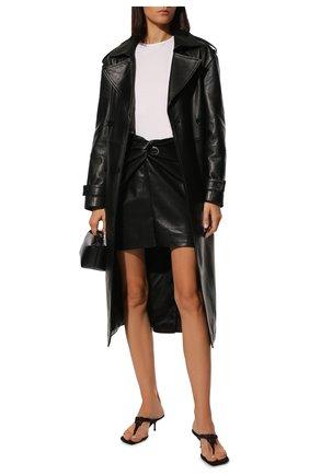 Женская юбка NANUSHKA черного цвета, арт. MIL0_BLACK_VEGAN LEATHER   Фото 2