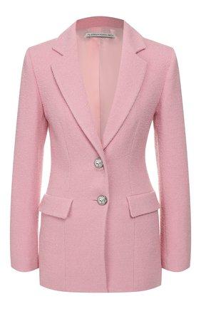 Женский шерстяной жакет ALESSANDRA RICH розового цвета, арт. FAB2052-F2521 | Фото 1