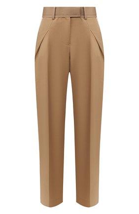 Женские шерстяные брюки SACAI бежевого цвета, арт. 20-04824 | Фото 1