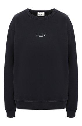 Женская хлопковый свитшот ACNE STUDIOS черного цвета, арт. AI0045/W | Фото 1