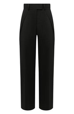 Женские шерстяные брюки SACAI черного цвета, арт. 20-04824 | Фото 1
