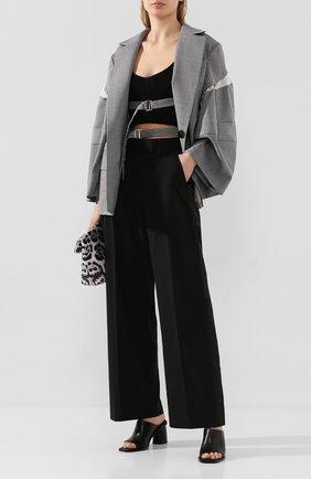 Женские шерстяные брюки SACAI черного цвета, арт. 20-04824 | Фото 2