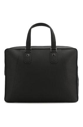 Мужская кожаная сумка для ноутбука ZILLI черного цвета, арт. MJL-0BD07-13260/1001 | Фото 1