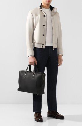 Мужская кожаная сумка для ноутбука ZILLI черного цвета, арт. MJL-0BD07-13260/1001 | Фото 2