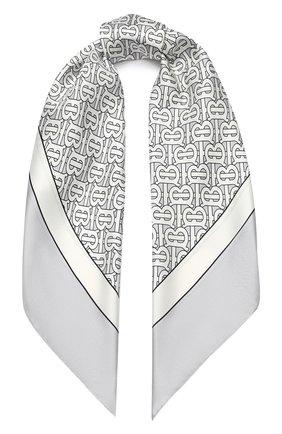 Женский шелковый платок BURBERRY серого цвета, арт. 8027266 | Фото 1