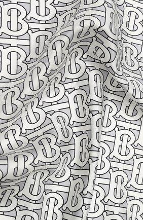 Женский шелковый платок BURBERRY серого цвета, арт. 8027266 | Фото 2