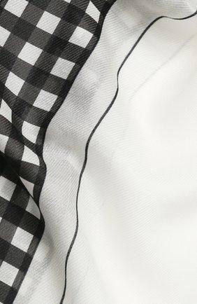 Женская шаль из смеси хлопка и шелка BURBERRY белого цвета, арт. 8029392 | Фото 2