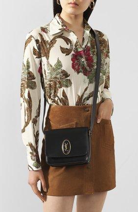 Женская сумка le 61 besace small SAINT LAURENT черного цвета, арт. 617102/02G0W | Фото 2