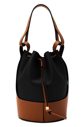 Женская сумка balloon LOEWE черного цвета, арт. 326.76AC30 | Фото 1