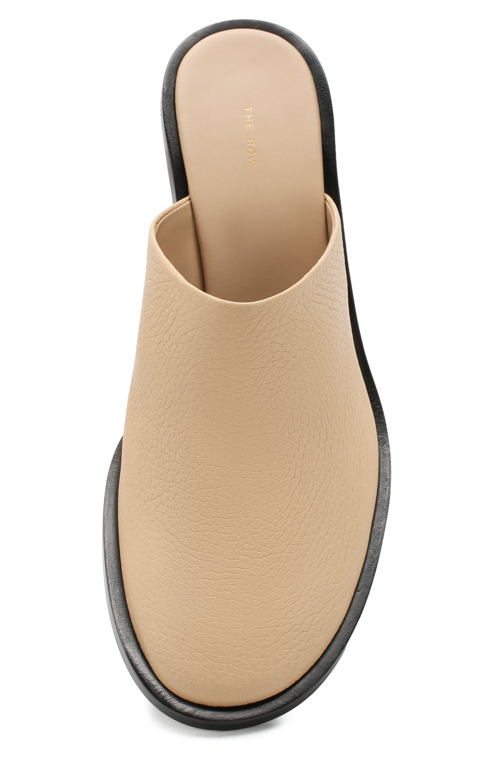 Женские кожаные мюли teatime  THE ROW бежевого цвета, арт. F1123-L23 | Фото 5