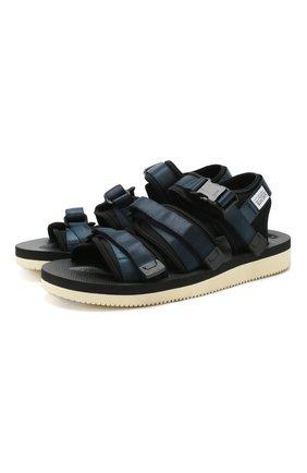 Мужские текстильные сандалии SUICOKE темно-синего цвета, арт. 0G-052V | Фото 1