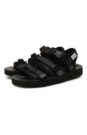 Мужские текстильные сандалии SUICOKE черного цвета, арт. 0G-052V | Фото 1