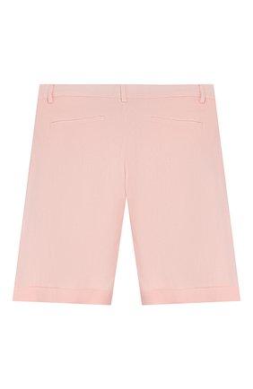 Детские льняные шорты LORO PIANA светло-розового цвета, арт. FAI9680 | Фото 2